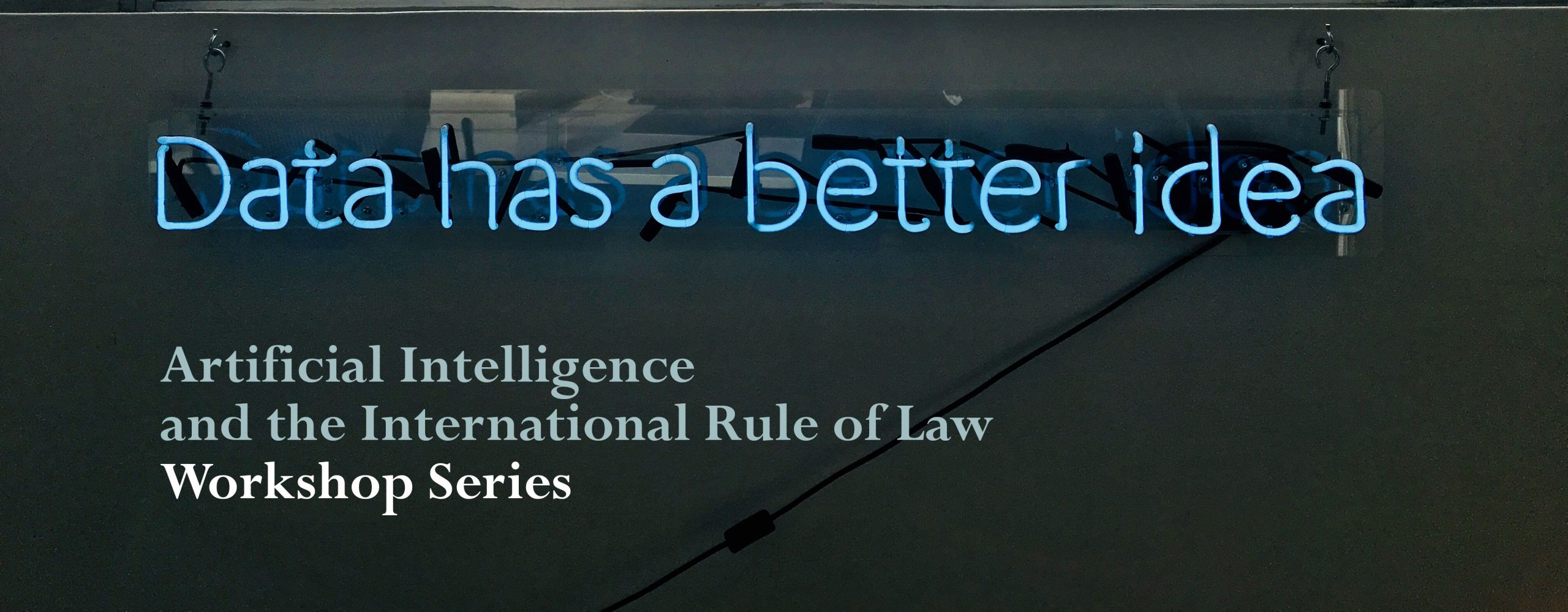 Artificial Intelligence and the International Rule of Law Workshop Series