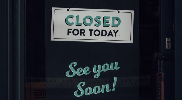 Closed for Today Hanging Sign