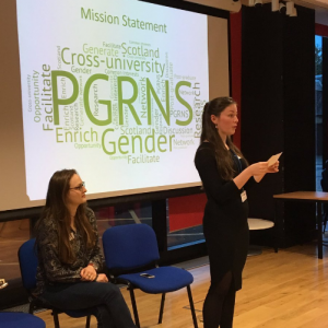 Ashley Dee Paton and Lois Burke introduce PGRNS on the night.