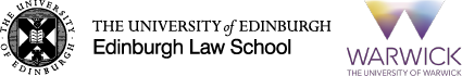 Edinburgh Law School and Warwick University logos
